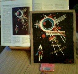 "Cuadro con plastelinas: ""Líneas radiales"", de Kandinsky"