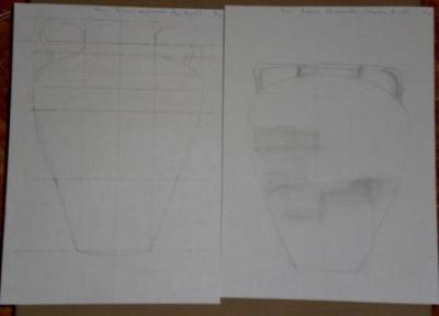 Jarrón-dibujos 1 y 2